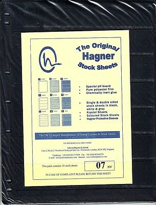 Hagner Original Stock Sheets Pack Of 10 7 Rows  Single Side