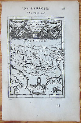 MALLET: Map of Hungary Serbia Danube - 1683