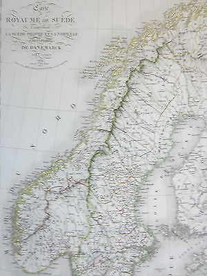 #VIVIEN: Large Decorative Map of Sweden and Norway - 1825
