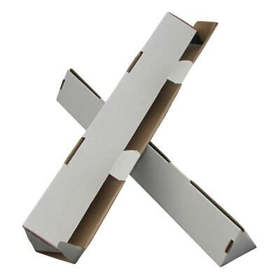 200 x Triangle Cardboard Mailing Tubes 450x60mm White Packaging Carton Box
