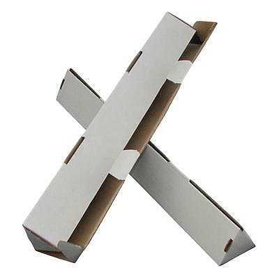 100 x Triangle Cardboard Mailing Tubes 660x100mm White Packaging Carton Box