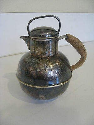 APOLLO EPNS SILVER BERARD RICE SONS MILK CREAM CREAMER PITCHER WITH LID #2134