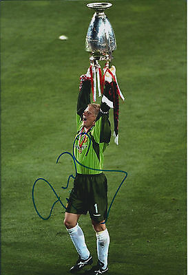Peter SCHMEICHEL SIGNED Autograph Man United Danish Goalkeeper Photo AFTAL COA