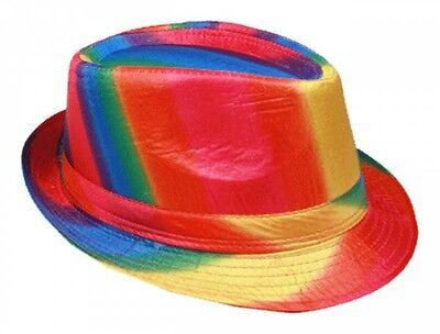 Rainbow Colors Gay Pride Fedora Trilby Hats For Adults  (FedHat 69 ^*)