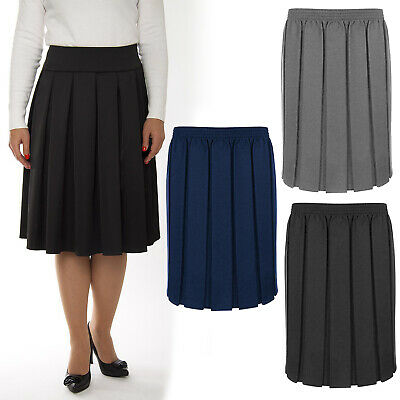 Girls School Uniform Box Pleat Skirt 7 Colours ages 2 to 16 years