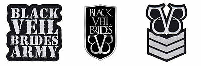 Black Veil Brides Sew Iron On Patch/Patches NEW OFFICIAL. Choice of 3 designs