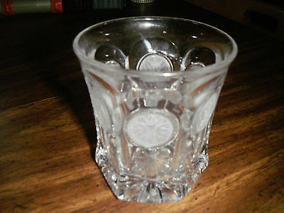 vintage fostoria coin glass crystal double old fashioned nice look