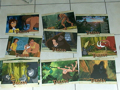WALT DISNEY: complete German Lobby Card set of 12   TARZAN