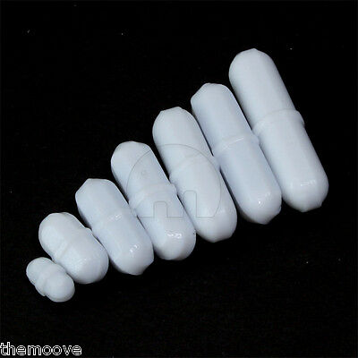 7pcs PTFE magnetic stirrer mixer stir bar White Color AU