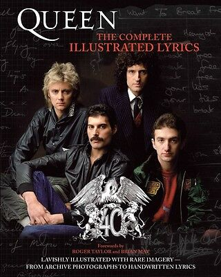 Queen The Complete Illustrated Lyrics Book NEW 000333226