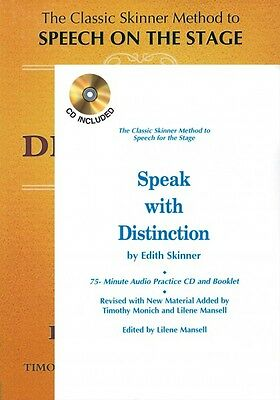 Speak with Distinction Book CD Booklet Package Applause Acting Series  000314108