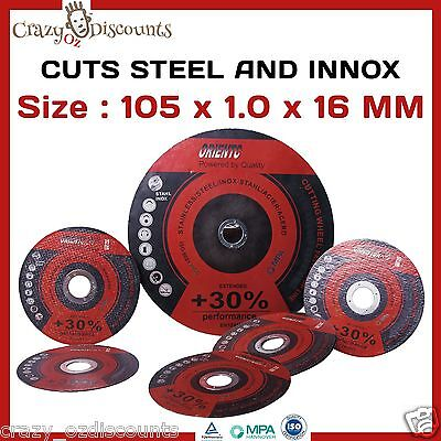 "50 X 100Mm 4"" Cutting Discs Cut Off Wheels Angle Grinder Grinding Metal Steel Nw"