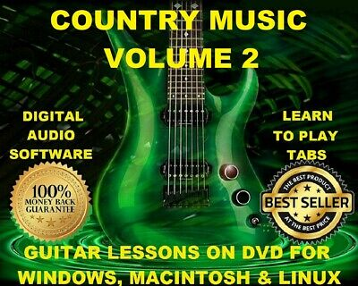 Country Music Vol #2 3616 Guitar Tabs Software Lesson CD & 702 Backing Tracks