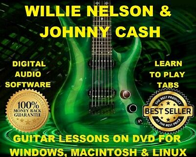 Johnny Cash 156 & Willie Nelson 243 Guitar Tabs Software Lesson CD & 87 BTs