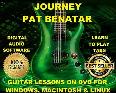 Journey 124 & Pat Benatar 61 Guitar Tabs Software Lesson CD & 43 Backing Tracks