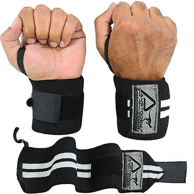 Austodex  Weight Lifting Gym Training Wrist Support Straps Wraps Bodybuilding