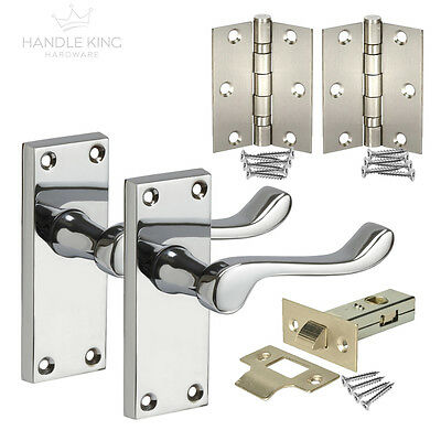 New Internal Scroll Polished Door Handles Pack includes Handles, Latch & Hinges