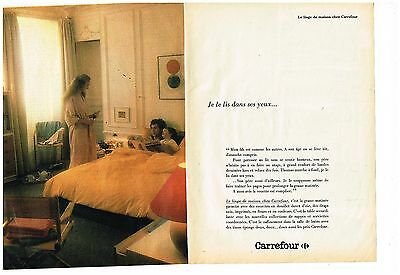 Les Magasins Carrefour Publicité Advertising 1981 2 Pages