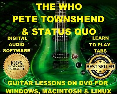 The Who Pete Townshend 205 Status Quo 347 Guitar Tabs Software Lesson CD 77 BT