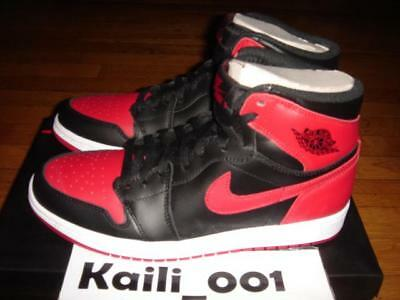 the best attitude ecd28 ca851 Nike Air Jordan 1 Retro High OG Size 11.5 Bred Royal DB Shadow Banned A