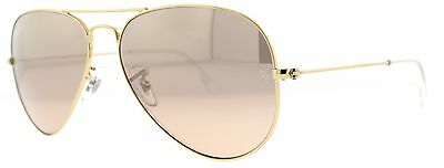 Ray Ban RB 3025 001/3E Gold w/ Brown/Pink Lens Unisex Aviator Sunglasses 58mm