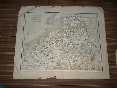 Rare Antique Map of North Netherlands Early 19th century