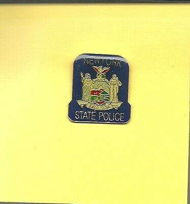 NEW YORK State  Police mini patch HAT PIN