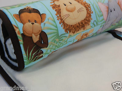 Jungle Babies Cot Blanket - Fleece Backed - Gorgeous!!! Beautiful Baby Gift Idea
