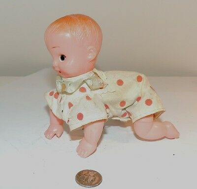 Wind Up Celluloid Crawling Baby (7273)