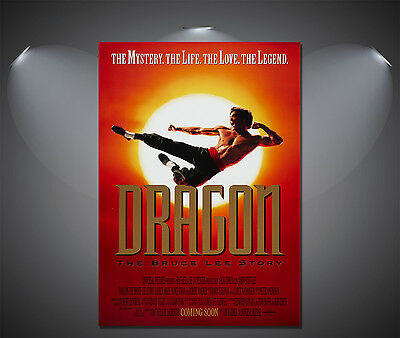 Dragon The Bruce Lee Story Vintage Movie Poster - A1, A2, A3, A4 Sizes Available