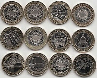 Two Pound Coin £2 1999 to 2008 Brilliant Uncirculated BU - Choose your Year