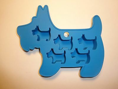 """Adorable Scottish Terrier Silicone Ice Tray, Candy Mold 6-1/2"""" x 5-1/2"""" x 3/4"""""""