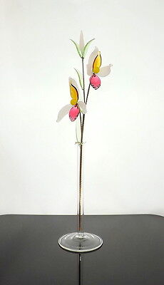 Multi Coloured Crystal Glass Flower Lovely Decoration For Any Room House Window