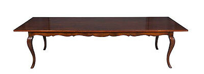 New Country Antique Style French Leg Cherry Long Farm Table Harvest Dining