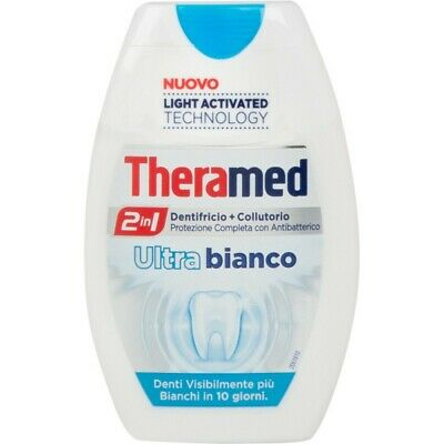 THERAMED dentifricio + collutorio ultra bianco 2 in 1 da 75 ml
