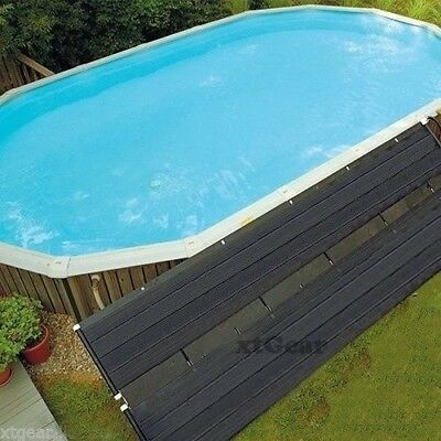 "28""x16.5' Solar Energy Swimming Pool Sun Heater Panel for Inground Above Ground"