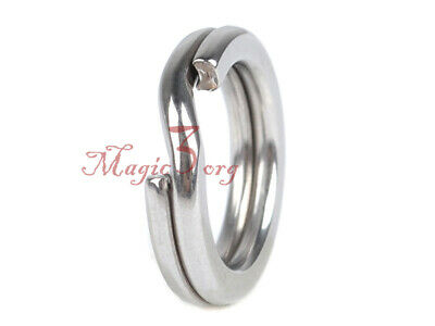 100X Stainless Steel Split Ring Fishing Flat Extra Strong Fresh/Saltwater 150lb