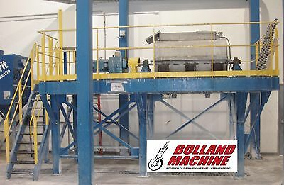 Stainless Steel Paddle Mixer 55 Cu FT 30HP Variable Spd Industrial Mixing Tank