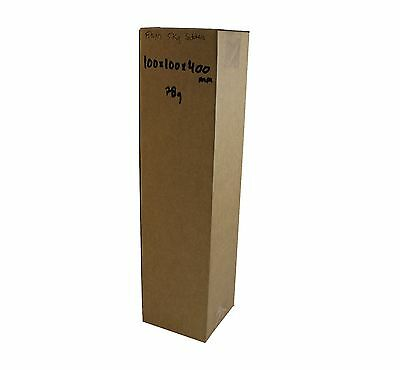 100 100x100x400mm Cardboard mailing Carton boxes Shipping Box Mailing Tube Pack