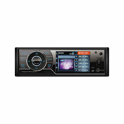 "3.4"" Single Din Receiver Bluetooth Power Acoustik Pd344b 12volt Multimedia"