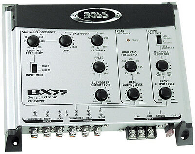 Boss 3 Way Electronic Crossover Subwoofer Input & Output Boss Audio Bx35 Signal