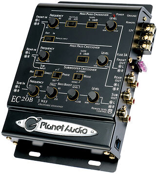 Planet 3-Way Electronic Crossover With Remote Woofer Level Control Planet Audio