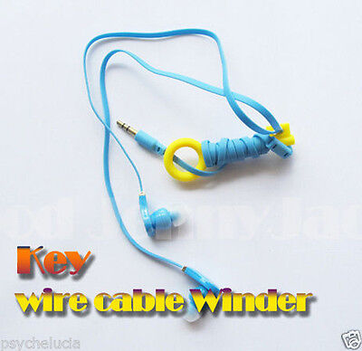 2x Key Wire Cable Winder For iPhone iPod Samsung Sony Earphones MP3 Headphones