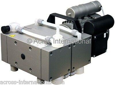 Welch 2.3 cfm Full Chemical-Resistant Quad-Stage Oil Free Diaphragm Pump Oven