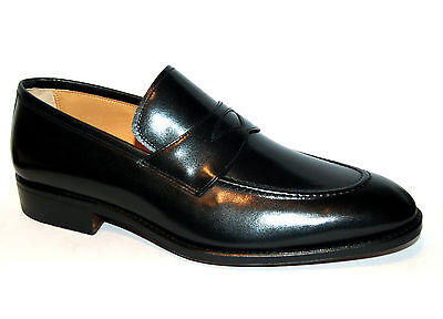 Man Penny Loafer - Black Calf - Calf Lining - Leather Sole - Blake Construction