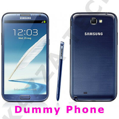 DUMMY Samsung Galaxy Note 2 N7100 BLUE Display Toy Fake Mobile Cell Phone NOTE2