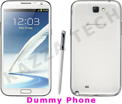 DUMMY Samsung Galaxy Note 2 N7100 WHITE Display Toy Fake Mobile Cell Phone NOTE2