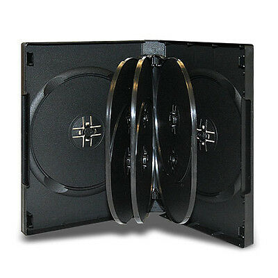 NEW! 1 Premium 8-Disc DVD Case 27mm Black - Holds 8 discs