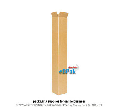 100 600mm Long Box 80x80x610mm Tall Shipping Carton * Mailing Tube Replacement