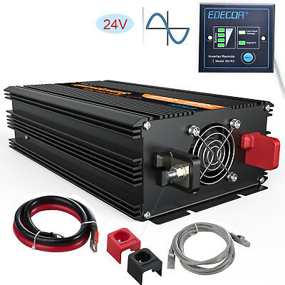 1500W 3000 watt 24V to 240V pure sine wave Power Inverter Converter soft start